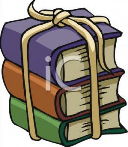 Bundled books clipart