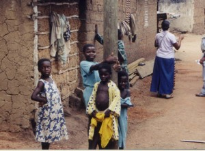 Kids in a village near Cape Coast Ghana, 2001, copyright Bryan Thomas Schmidt