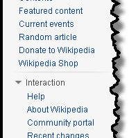 Wikipedia side bar top