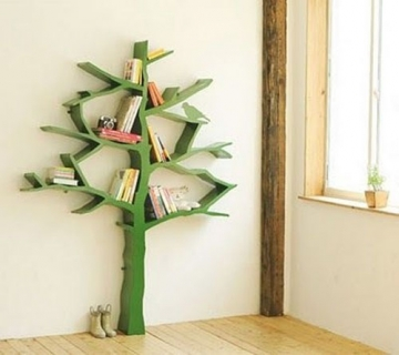 Green tree bookshelves