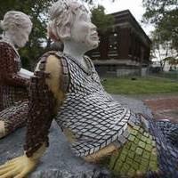 Conley Library sculpture Detroit Free Press