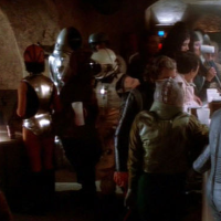 George R R Martin in the Star Wars Cantina scene